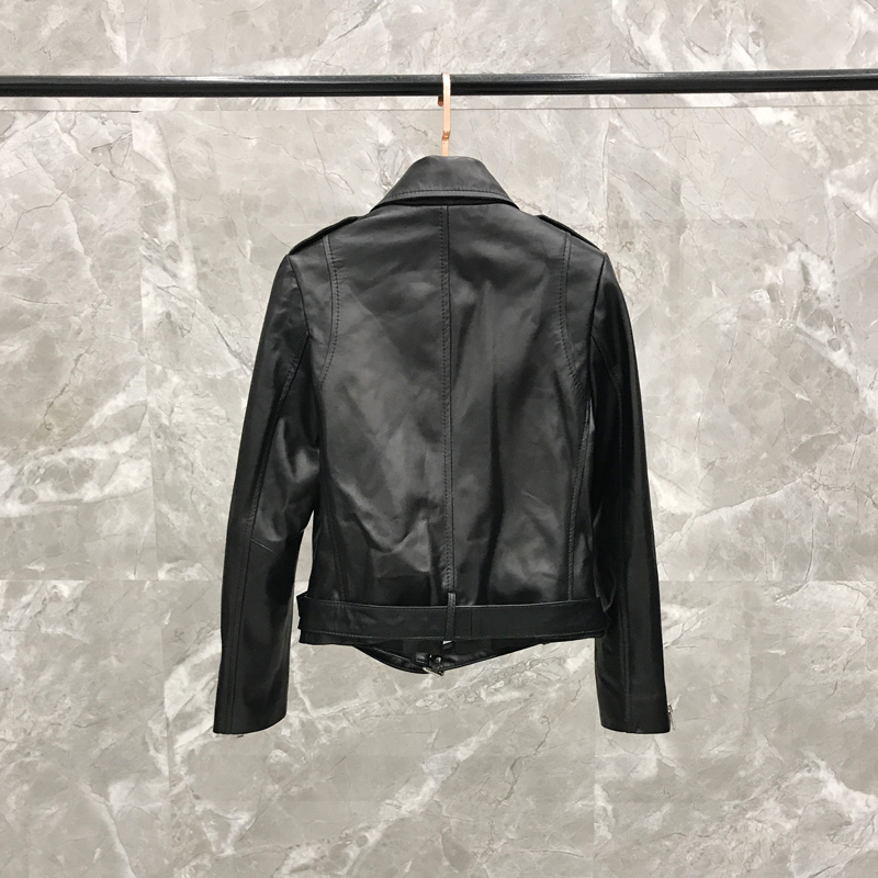 2020 Autumn Version Of The Slim Slimming Locomotive Sheepskin Leather Short Jacket Real Leather Jacket