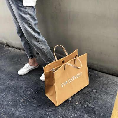 สัมภาระสาว2019ใหม่พิมพ์ลายผ้าใบขนาดใหญ่กระเป๋าขนาดใหญ่ความจุกระเป๋าไหล่เดี่ยว,มือถือพิเศษกระเป๋าและกระเป๋าเดินทาง