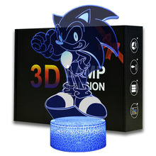 Magiclux Cartoon Night Light ABS Base With Acrylic Light Borad Optical illusion Sonic the Hedgehog Amine