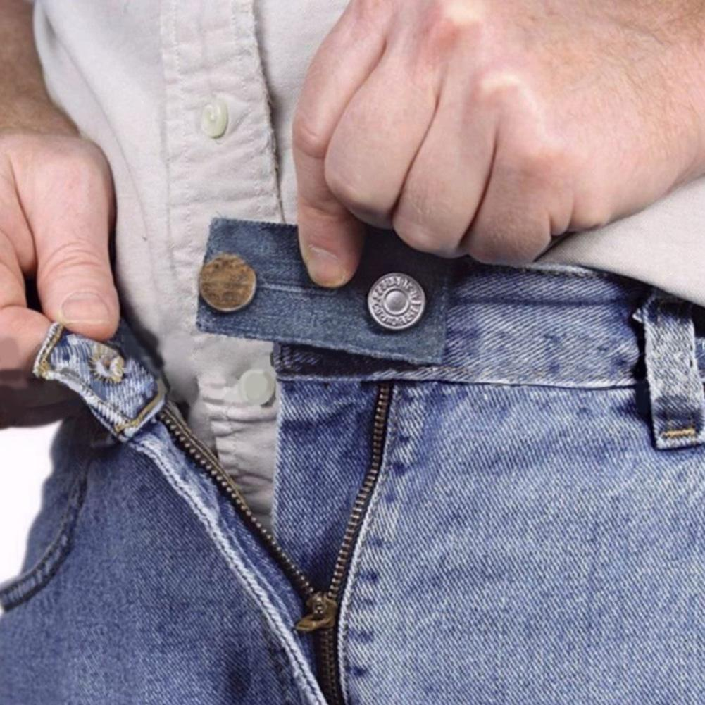 3Pcs/Set Jeans Denim Waistband Waist Extender Button Belt Clothes Accessories Jeans Extender Buckle Belt Pants Adjusted Buckle
