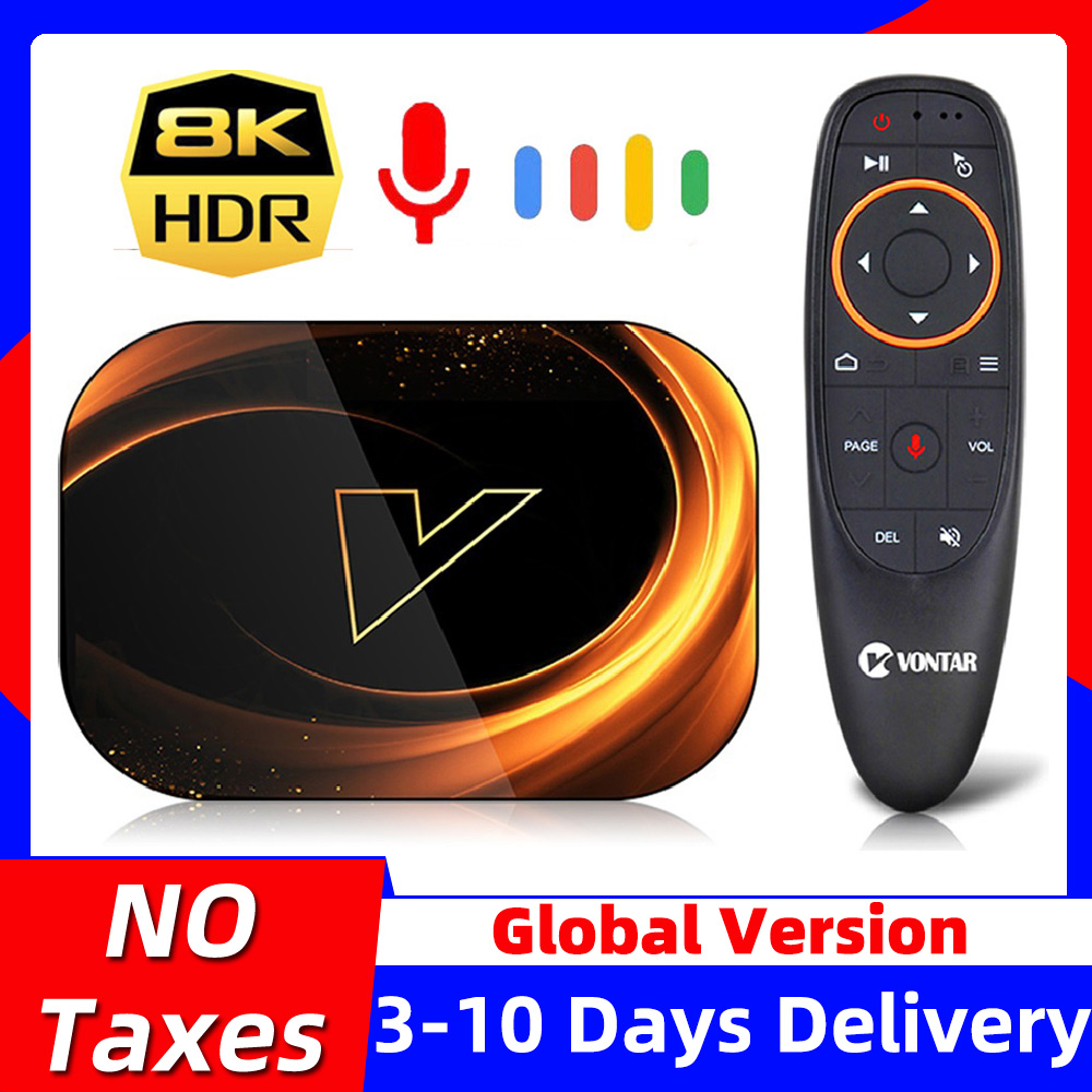 VONTAR X3 8K Max 4GB 128GB TV Box Android 9 9 0 Amlogic S905X3 TVBox 32GB 64GB ROM 1000M Dual Wifi 4K 60fps Youtube Set top Box