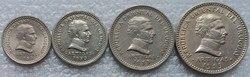 Uruguay 1953 münze 1.2.5.10 cent vollen Satz 4 Stück Unc Echt Original Münzen Sammlung
