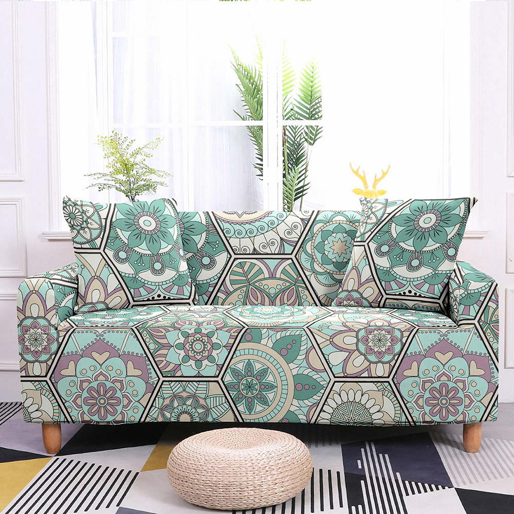 Sofa Slipcovers Stretch Sofa Cover Elastic Couch Cover Sectional Sofa Cover Bohemian Styles Mandala Pattern Sofa Cover 1-4 Seat 5
