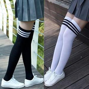 Thigh High Over Knee High Socks Girls Women's Stockings Non-Slip Anti-Hem Fashion Female Long Knee Sock 2020 medias de mujer