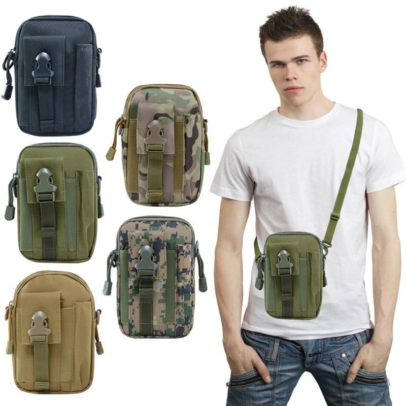 Men Tactical Molle Pouch Belt Waist Pack Bag Waterproof Molle Pouch Shoulder Waist Fanny Packs Mobile Phone Keys Bags