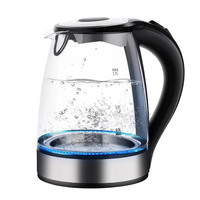 Electric Kettle Made with High Quality Glass and Is BPA Free  1.8 Liter with Auto Shut Off  Boil Dry Protection  Stainless Steel|Electric Kettles| |  -