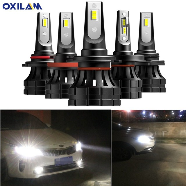 2 pièces H7 H4 Voiture PHARE LED Ampoule H11 H13 9005 9006 9007 Auto 12V Mini Lampe Frontale Pour BMW VW Mercedes Audi A3 8P A4 6B BMW E60 E90