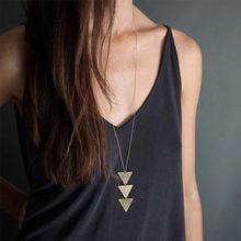 Collier Long à pendentif géométrique pour femmes, Ras Du Cou, nouvelle collection 2021