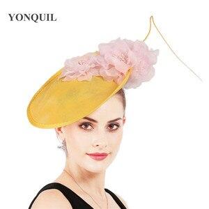 Image 4 - Charming Big Hair Fascinators For Kenducky Nice Hats Elegant Women Fedora Caps Fancy Nice Flower Ladies Headwear Hair Pins