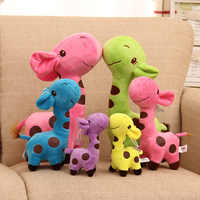 18CM Cute Plush Giraffe Soft Colorful Toys Animal Dear Doll Baby Kid Child Christmas Birthday Happy Gifts 5 Colors dropshipping