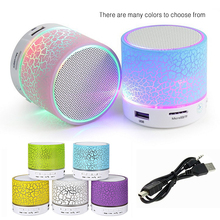 Wireless Loudspeaker LED Subwoofer Bluetooth Speakers mp3 Portable Wireless Bass Speaker with TF USB FM Mini Radio Music Player