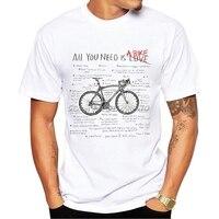 Divertente anatomia bicicletta Design Cool Boy Tees tutto ciò che serve una bici amanti lettera uomo T-Shirt estate uomo manica corta Sport top