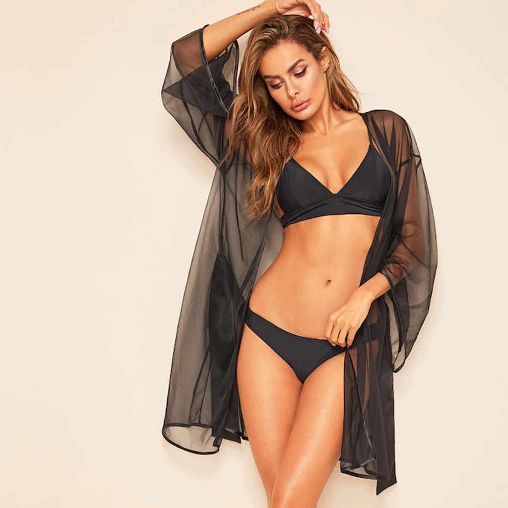 נשים סקסי הלבשה תחתונה ליידי שקוף כתונת לילה דק חלוק רחצה הלבשת הקיץ סקסי שקוף חלוק חלוק רחצה דאן Badjas גבירות
