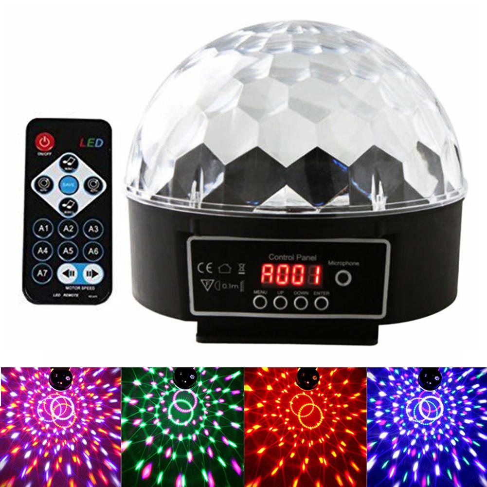 Portable Voice Control RGB LED DJ Light Ball KTV Disco Party Stage Effect Lamp