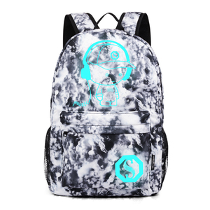 Image 5 - Fashion Luminous Backpack For Men Women Oxford Anti thief School Bags For Girl Boy Student Cute USB Charge Laptop Knapsack