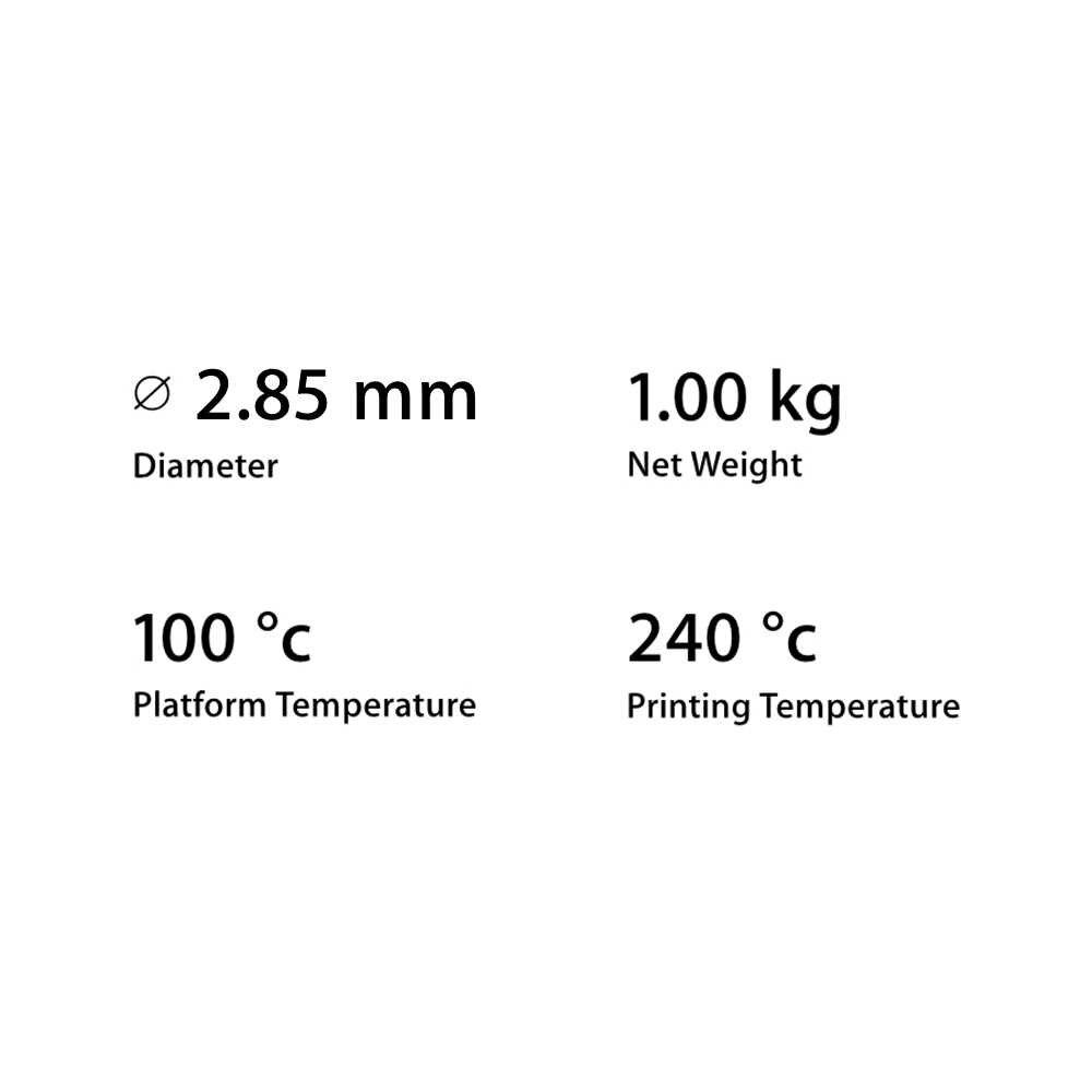 クリアランス販売スペイン倉庫 2.85 ミリメートル 1 キロ Ultimaker 白 ABS フィラメント 3D プリンタ消耗品素材印刷用品