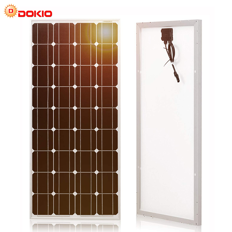 Dokio Brand Solar Panel China 100W Monocrystalline Silicon 18V 1175x535x25MM Size Top quality Solar battery China #DSP 100M-in Solar Cells from Consumer Electronics    1