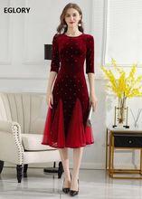 Размера плюс одежда 2020 осень зима вечерние платья для женщин