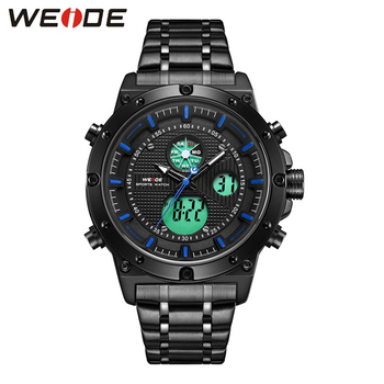 WEIDE Watch Men Tritium Luminous Watch Relogio Masculino Quartz Watch Waterproof Analog Luxury Brand Analog Digital Mens Watches luxury carnival tritium luminous t25 men s watches quartz military men 200m diver waterproof wristwatch