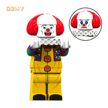 Horror Movie Happy Pennywise Clown LeGoeingly MIniFigured Beverly Chosen George Jacobs Bricks Building Blocks Toys Gifts XP092(China)