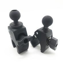 Motorcycle Bicycle Handlebar Rail Mount Clamp with 1 inch Ball Mount for Gopro Action Camera for Clamp Clip