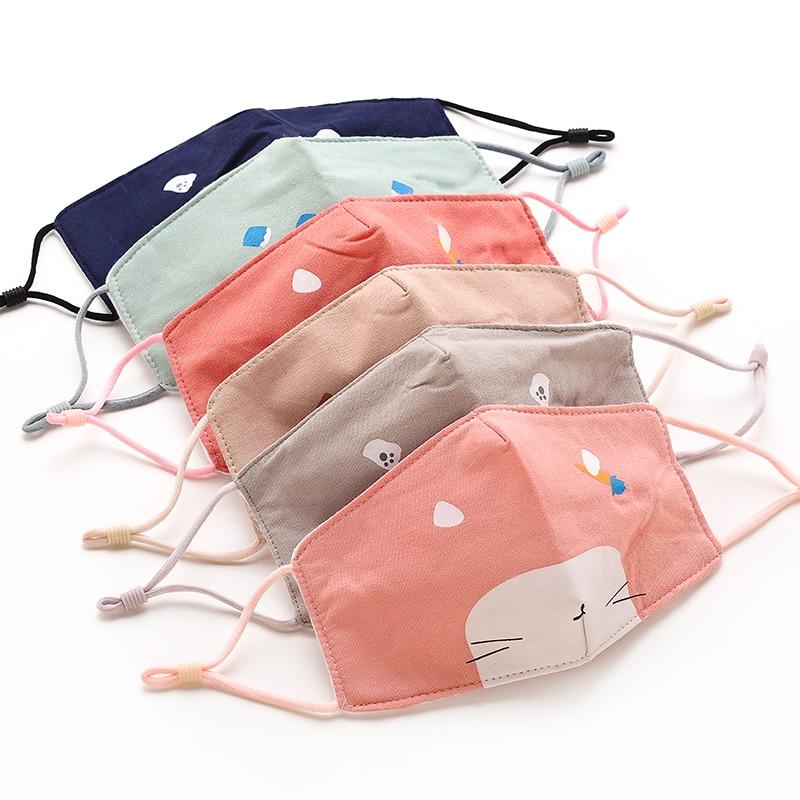 Children Face Mask 3D Maske Cartoon Mask Reusable Washable Cover Cotton Msks Cloth Face Mouth For Flu Protection For Kids Reuse