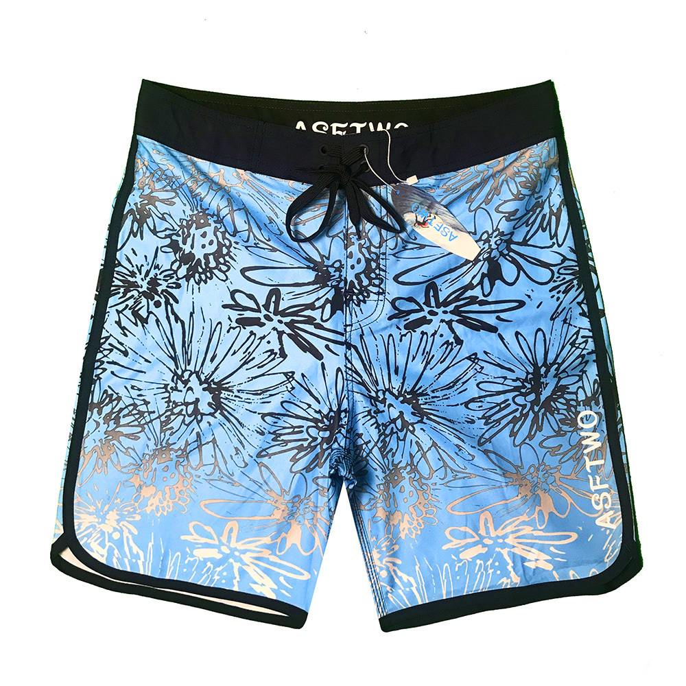 Colorvalue Waterproof Boardshorts Swim Trunks New Men Quick Dry Striped Beach Shorts Ice Silk Fabric Male Bandage Swimsuit