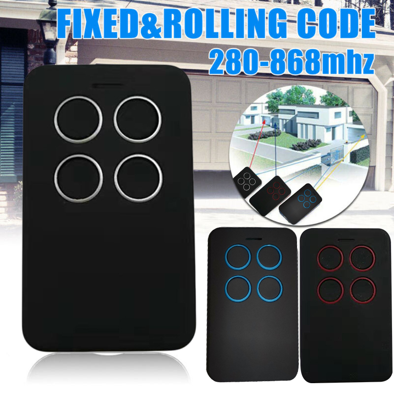 Fixed Rolling Code Garage Door Remote Control Duplicator Frequency 280 -868 MHz