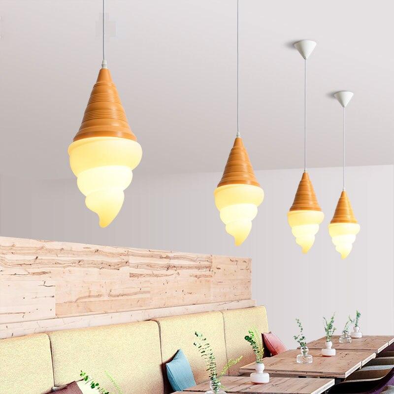 Ice Cream Led Pendant Lights Modern Nordic  Dining Room Hanging Lamp Kitchen Bedroom Light Fixtures Restaurant Cafe Home Decor