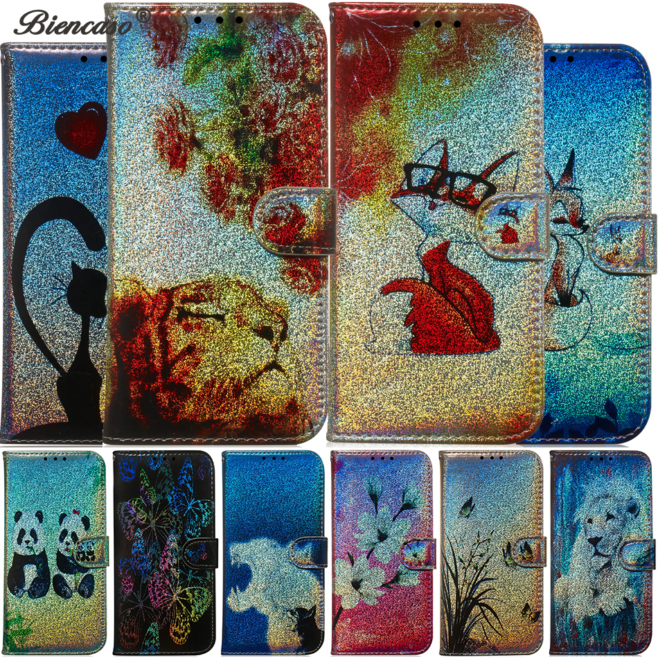 for <font><b>Nokia</b></font> 1 Plus 8.1 <font><b>7.1</b></font> 6.1 5.1 3.1 Plus 4.2 3.2 2.2 X7 phone <font><b>case</b></font> Laser pattern Leather Flip Wallet <font><b>Case</b></font> Soft Cover fundas 3.1 image