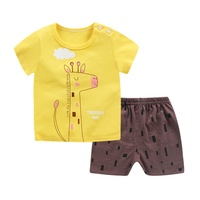Baby Clothing Set for Boys Girls Cute Summer Casual Clothes Set Giraffe Top pink Shorts Suits Kids Clothes 1 4 Years
