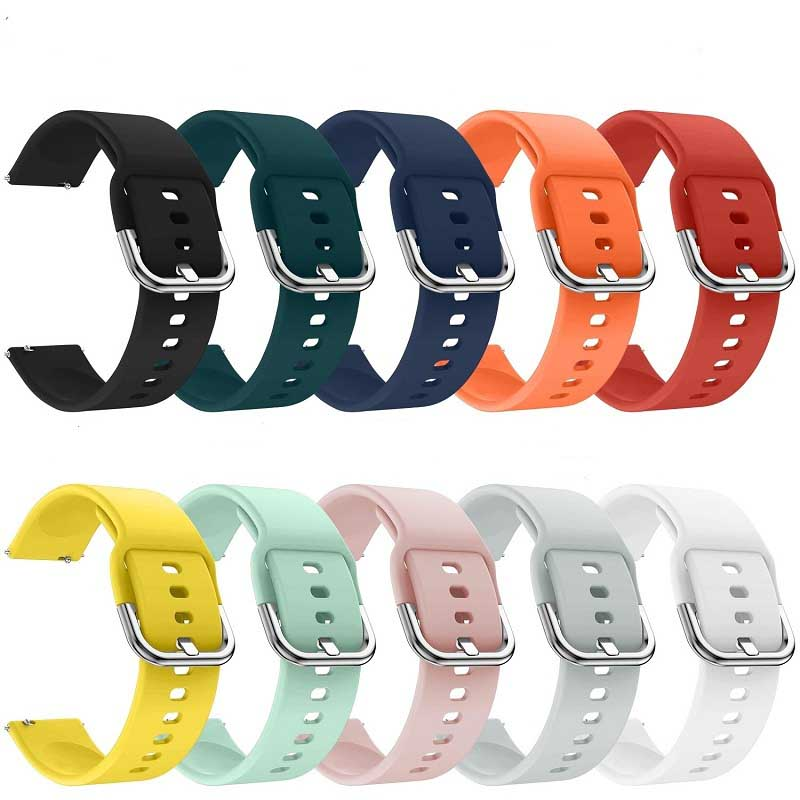 20mm Silicone Strap For Samsung Galaxy Watch Active40MMsolid Color Bracelet Smart Sports Strap For Samsung Watch42mm Watch Strap