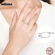 WOSTU-Anillo de plata de primera ley y circón para mujer, sortija, plata esterlina 2019, Circonia cúbica, zirconia, circonita, zirconita, boda, compromiso, CQR485, 925