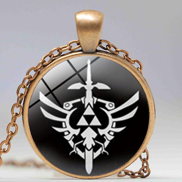 Colar Legend Of Zelda Triforce Preto