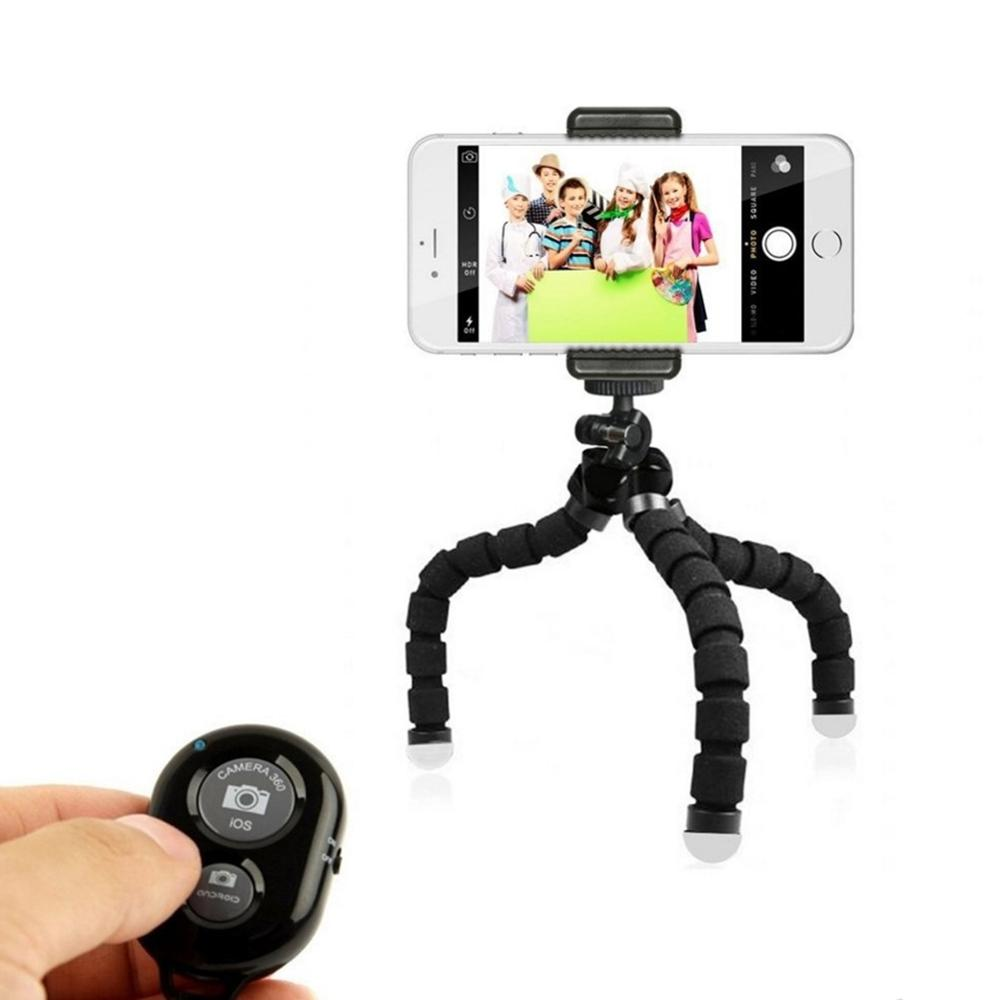 Sponge Octopus Flexible Tripod for iPhone for Xiaomi for Huawei Tripod for <font><b>Gopro</b></font> Camera with Phone Clip Holder <font><b>Remote</b></font> <font><b>Control</b></font> image