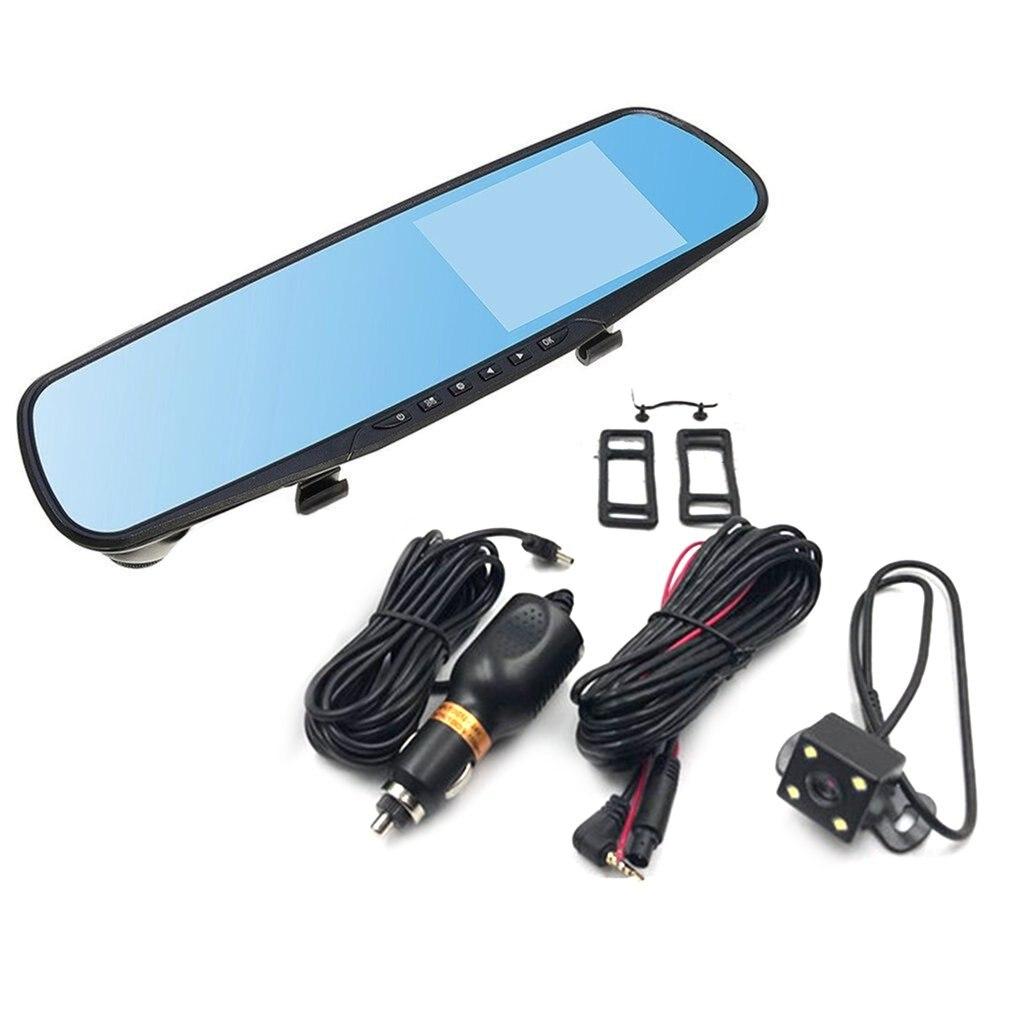 4-дюймовый Дисплей 1080P HD Двойной объектив Видеорегистраторы для автомобилей Портативный тире Камера монитор автомобиля тире (устройство ци...