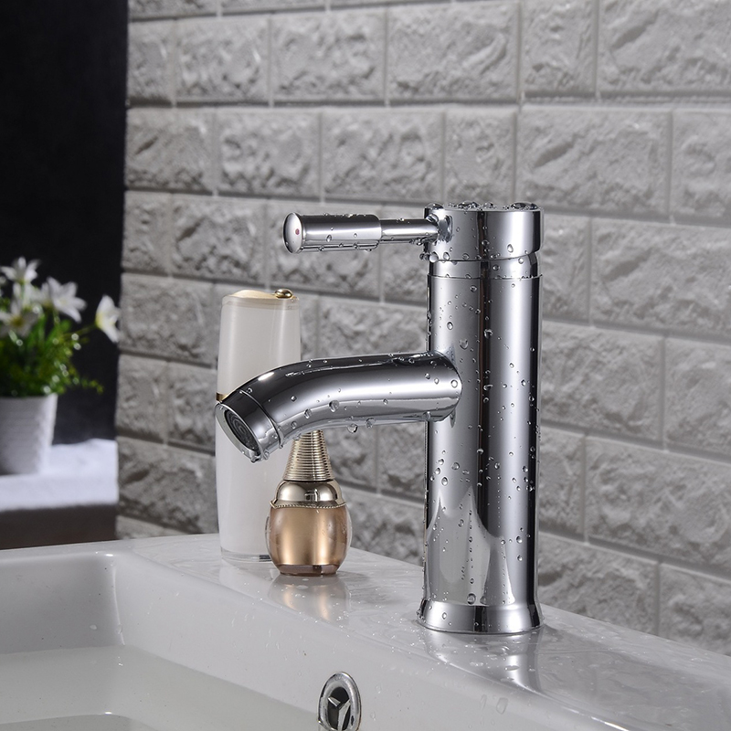 Bathroom Faucet Sink Mixer Taps Waterfall Single Handle Lever Faucets Bath Basin Cloakroom Tap