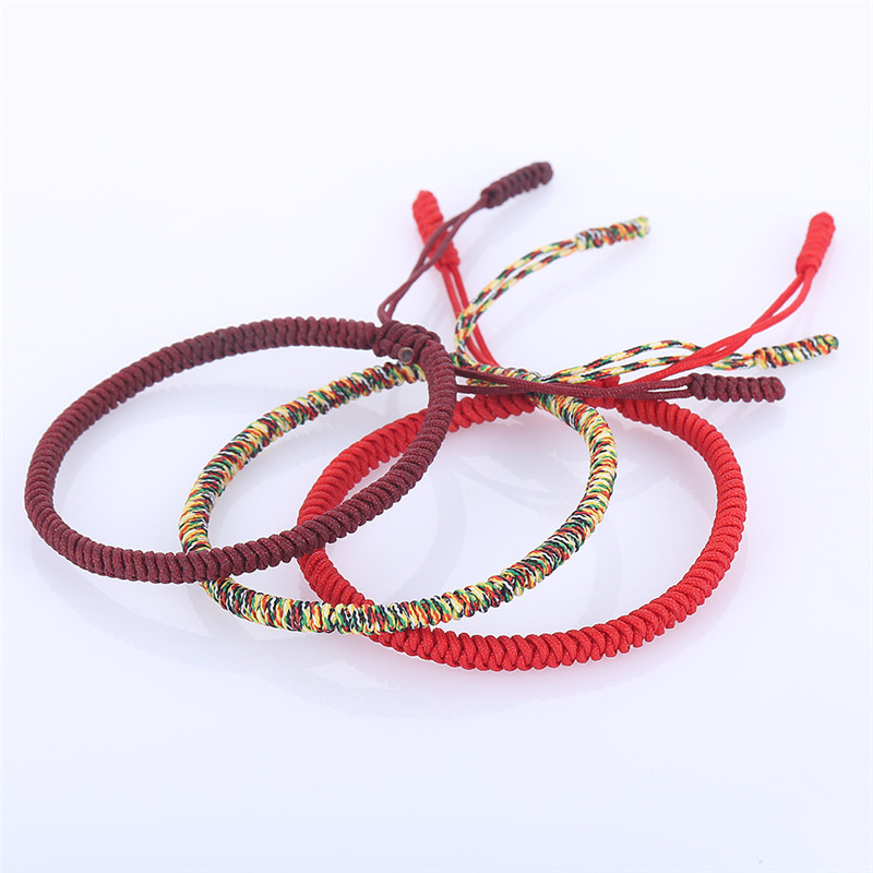 Multicolor Thread Bracelet Tibetan Buddhism Love Lucky Charm Tibetan Bracelets & Bangles For Women Men Handmade knot Rope