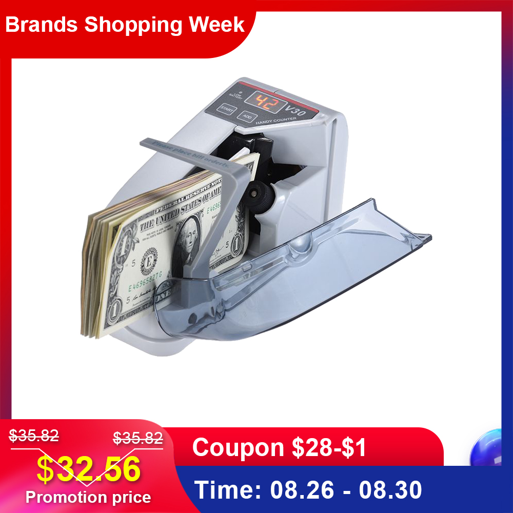 Money-Currency-Counting-Machine Counter Banknote Battery-Powered Dollar Cash Bill Handy