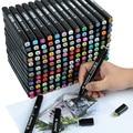Маркеры TouchFive 30/40/60/80 цветов, набор для анимации, маркеры для эскизов, ручка с двойными наконечниками, спиртовые ручки для фотографий