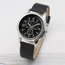 Hot Sell Newest Luxury Brand Watch Men Quartz Watch Leather Newv Strap Mens Watch Analog Dress Wrist Watch Clock reloj(China)