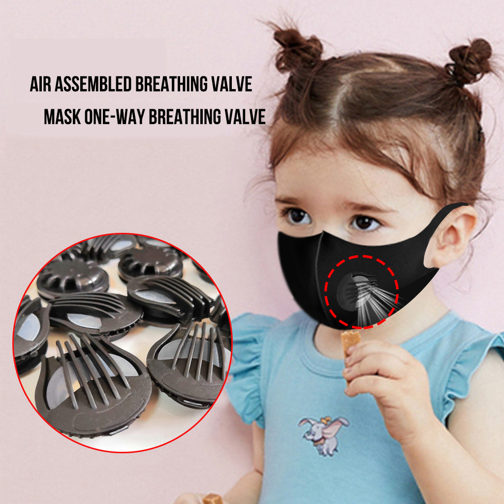 50pc Outdoor Anti-dust Face Mouth Mask Valves Filter Air Breathing Mascarillas Masks Valves Mask Accessories Replacements Unisex
