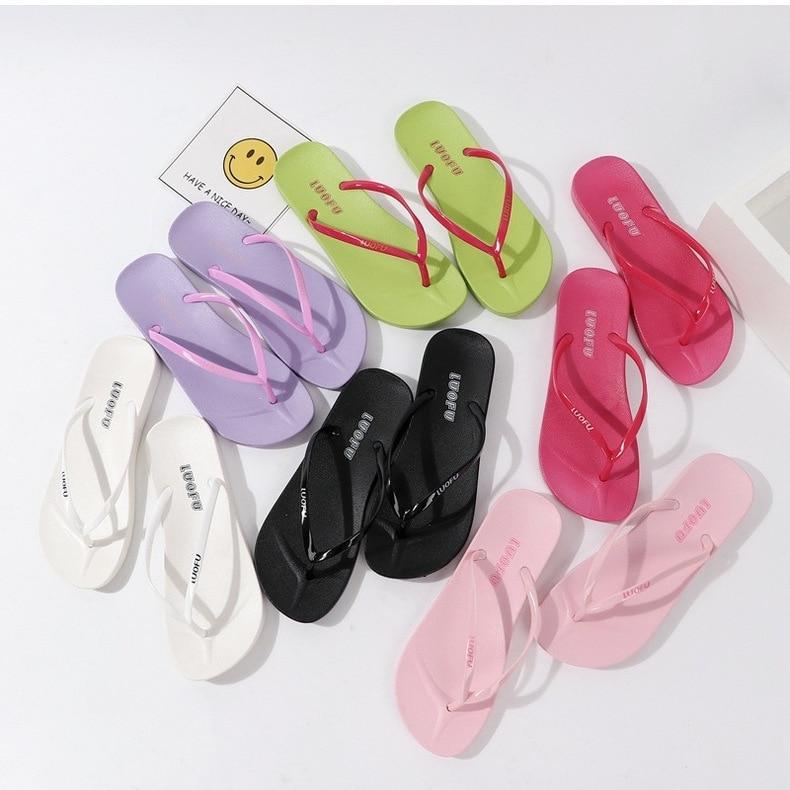 Summer Candy Color Casual Flip Flops  Girls Home Slip Beach Sand Flip Flops 6colors 2159 XQ01