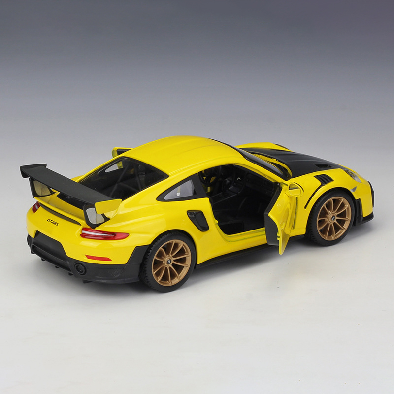 GT2 RS Yellow Diecast Model Car 5