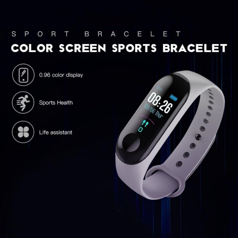Esportes passo contador smartwatch pressão freqüência cardíaca monitor de sono usb-carga inteligente pulseira de fitness ferramenta auxiliar