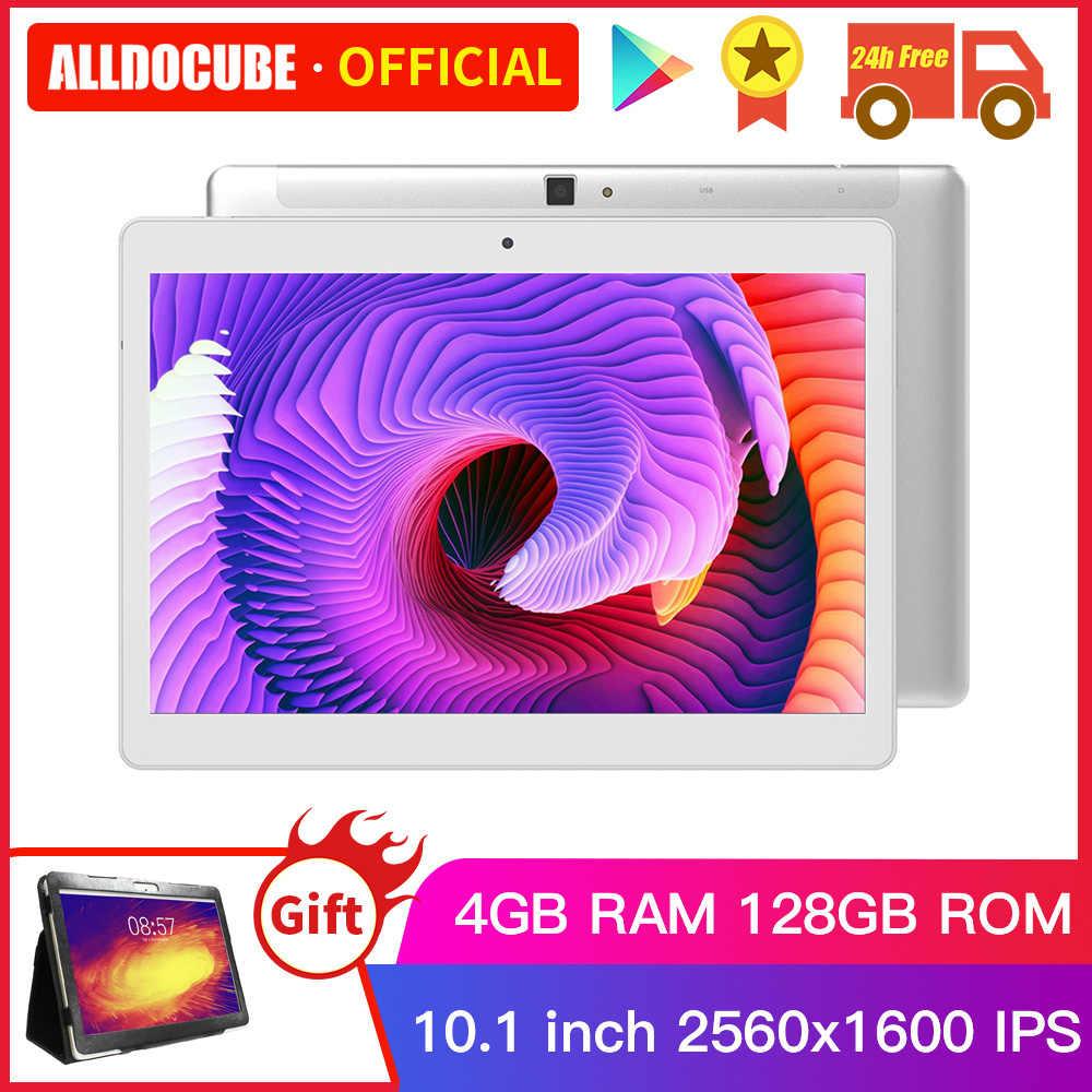 ALLDOCUBE M5X פרו טבליות 10.1 אינץ אנדרואיד 8.0 4GB RAM 128GB ROM 10 Core שיחת טלפון Tablet PC google לשחק כפולה 5G 2.4G Wifi