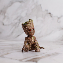 Guardians Of The Galaxy 2 Tree Man Grout Sitting Collectible Anime Toy PVC Cartoon Mini Action Figure Doll Toys model Keychain rmdmyc toy guardians of the galaxy rocket racoon groot action figure 16cm groot 1 10 scale painted anime figure pvc model gifts