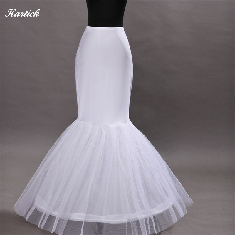 Brand New Mermaid Petticoats For Wedding Dresses Bride Gown 1-Hoop Underskirt Crinoline White Wedding Accessories