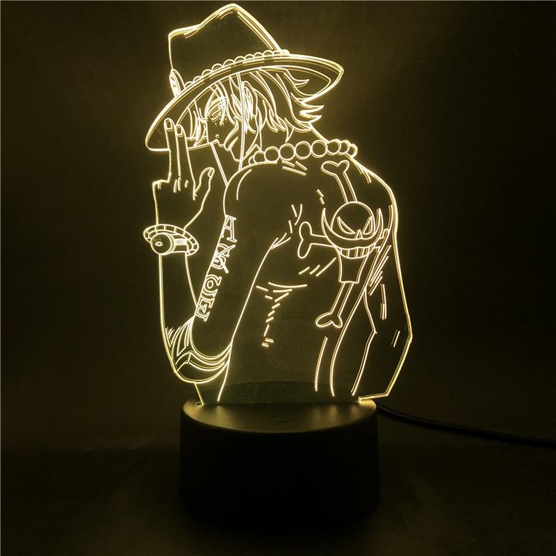 Anime Figure One Piece Portgas D Ace 3d Illusion Light Bedroom Led Night Light for Child Kids Cool USB LED Table Desk Lamp Toys|LED Night Lights| - AliExpress