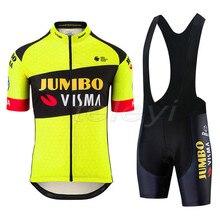 2020 new pro team jumbo visma cycling jersey set Bicycle maillot mens breathable MTB quick dry bike Ropa ciclismo 9D gel pad стоимость